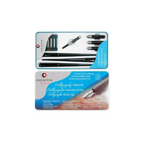 Sheaffer Pen Calligraphy Dlx Kit W 3 Elegant Pens 3 Nib