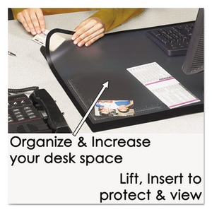 Artistic Lift-Top Pad Desktop Organizer with Clear Overlay