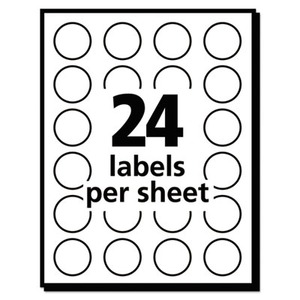 photo regarding Removable Printable Labels titled Avery Printable Self-Adhesive Detachable Shade-Coding Labels, 0.75\