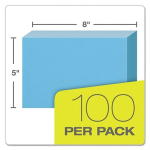 graphic regarding Sidetracked Home Executives Printable Cards called Oxford Unruled Index Playing cards, 5 x 8, Blue, 100/Pack