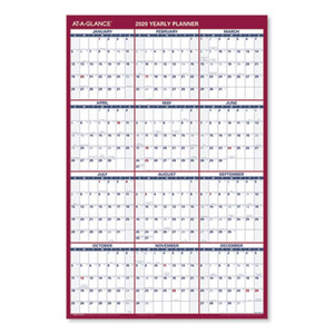 At A Glance Erasable Vertical Horizontal Wall Planner