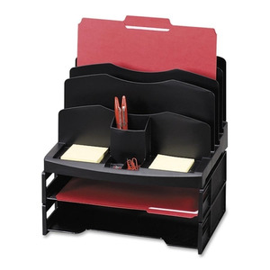 Sparco Smart Solutions Organizer With Letter Tray