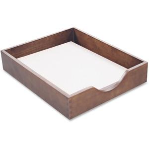 Carver Walnut Finish Solid Wood Desk Trays Cvrcw07212