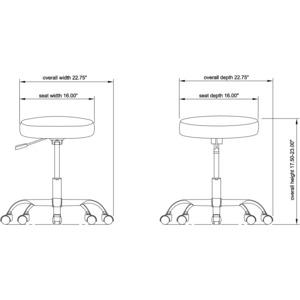 Lorell Backless Pneumatic Height Stool Llr69513