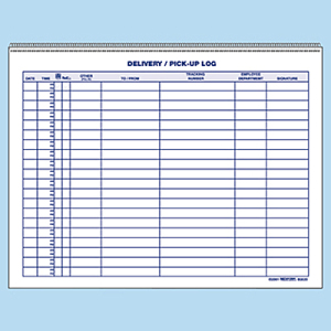 pat testing record sheet template - rediform spiralbound delivery pick up log book red6g620