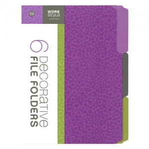 wilson jones decorative file folders 6 pack 12 packs per case