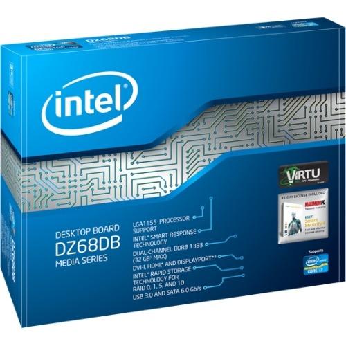 Intel DZ68DB Desktop Motherboard, ATX - 1 x Processor