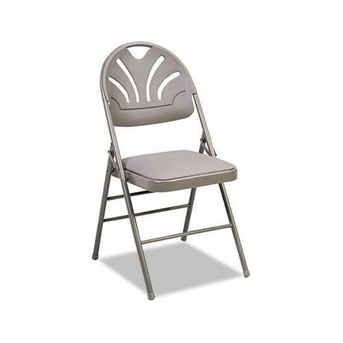 Beau Cosco Fabric Padded Seat Molded Fan Back Folding Chair