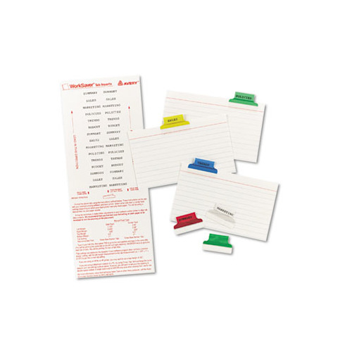 photograph regarding Printable Index Tabs identified as Avery Insertable Index Tabs with Printable Inserts, 1