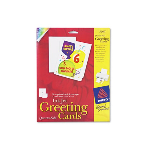 Avery 1 4 Fold Greeting Cards