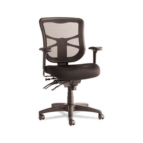 Ordinaire Alera Elusion Series Mesh Mid Back Multifunction Chair, Black