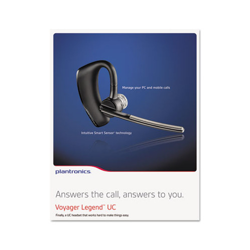 Plantronics Voyager Legend Uc Monaural Over The Ear Bluetooth Headset Plnb235 Shoplet Com