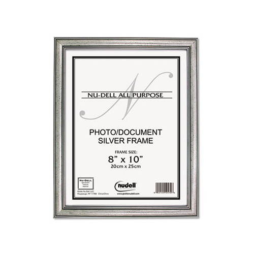 Antique Finish Silver Signing Frame: Nu-dell Antique Silver Finish Wood Frame
