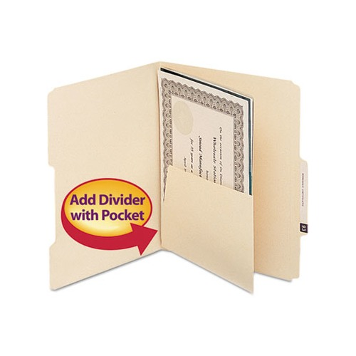 Smead Self-Adhesive Folder Dividers For Top/End Tab