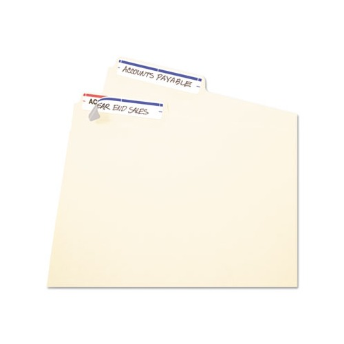 Avery Permanent File Folder Labels, 11/16 x 3 7/16, White