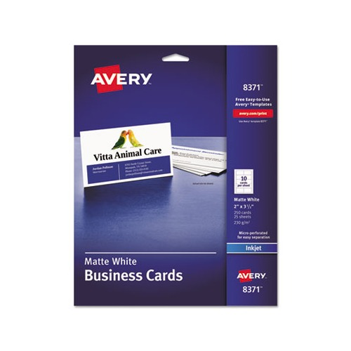 Avery Printable Microperf Business Cards Ave8371 Shoplet