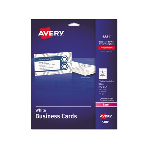 Avery print to the edge microperf business cards ave5881 shoplet avery print to the edge microperf business cards reheart Images