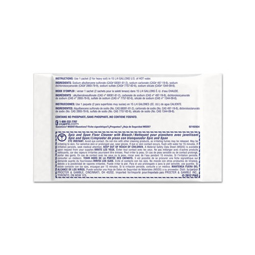 Spic And Span Bleach Floor Cleaner Packets Pgc02010 Shoplet Com