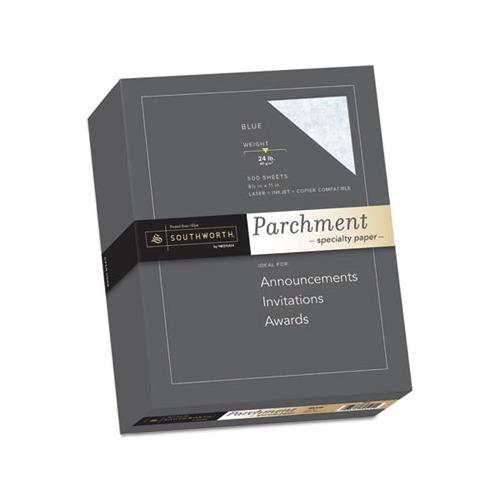 southworth parchment specialty paper  blue  24lb  8 1  2 x 11  500 sheets - sou964c