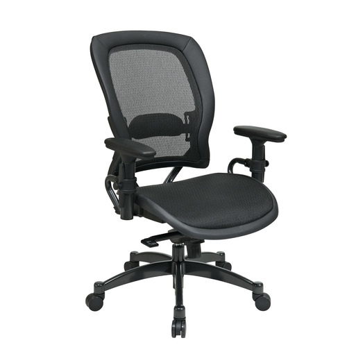 office star products professional black breathable mesh chair