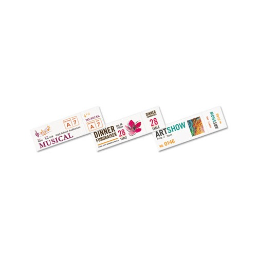 """Pack Avery Matte White Printable Tickets with Tear-Away Stubs 1-3//4/"""" x 5-1//2/"""""""