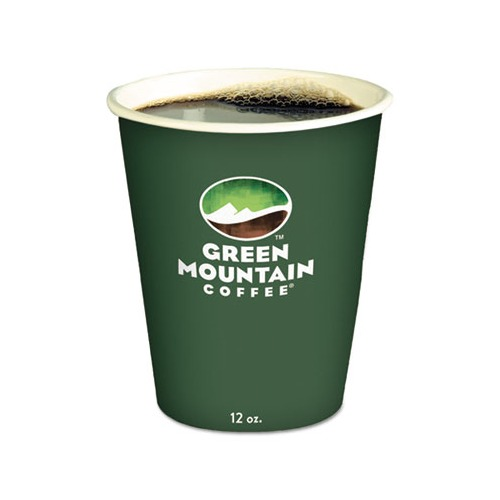 Messy Cups Plates: Green Mountain Coffee Roasters Eco, 12oz, Green Mountain