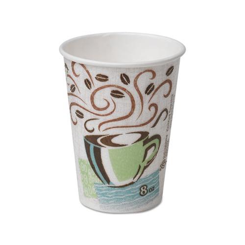 Dixie Hot Cups Paper, Paper, 8oz, Coffee Dreams Design, 500/Carton