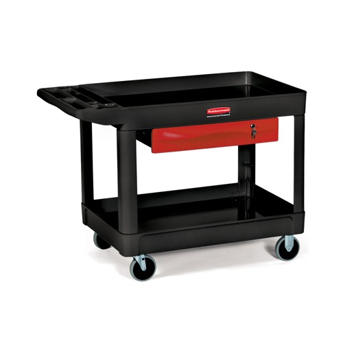 rubbermaid heavyduty utility cart 500lb cap 2shelf 26 1 - Rubbermaid Utility Cart