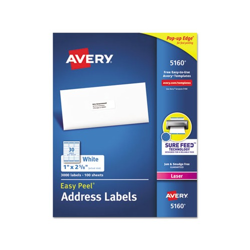 Avery Easy Peel Mailing Address Labels Ave5160 Shoplet