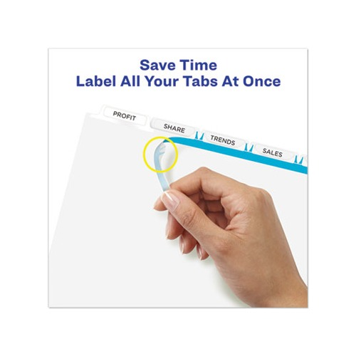Avery Print and Apply Index Maker Clear Label Dividers, 5