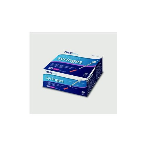Trividia Health, Inc Trueplus Single-Use Insulin Syringe, 30G x 5/16