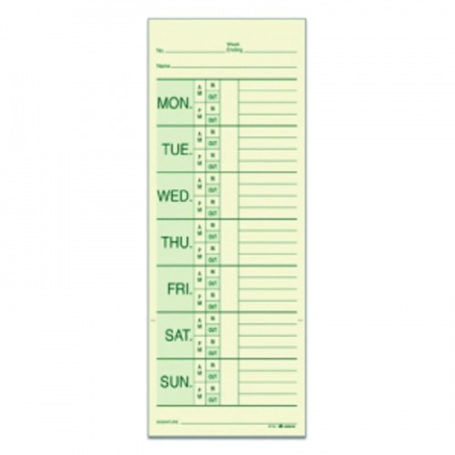 adams weekly time card named days - Weekly Time Card