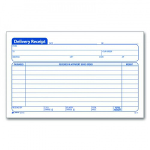 Adams Delivery Receipt Book ABFD4714 Shoplet – Delivery Receipt