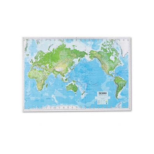 American map Hammond deluxe laminated rolled fullcolor physical