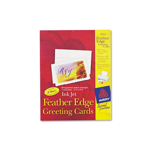 Avery personal creations ink jet feather edge greeting cardsenvs avery personal creations ink jet feather edge greeting cards envs m4hsunfo
