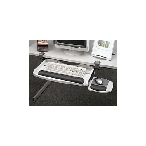 Fellowes Desk Ready Clamp On Keyboard Manager W Gliding Mouse Tray