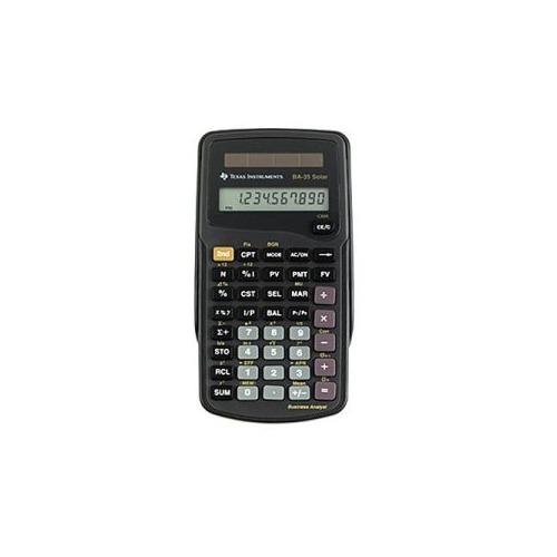 Texas Instruments BaSolar Solar Powered Financial Calculator