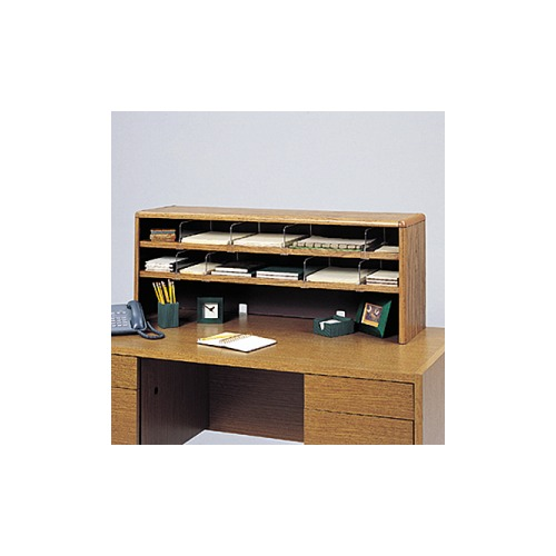 Safco value mate double shelf desktop unit saf3524mo shoplet safco value mate double shelf desktop unit thecheapjerseys Image collections