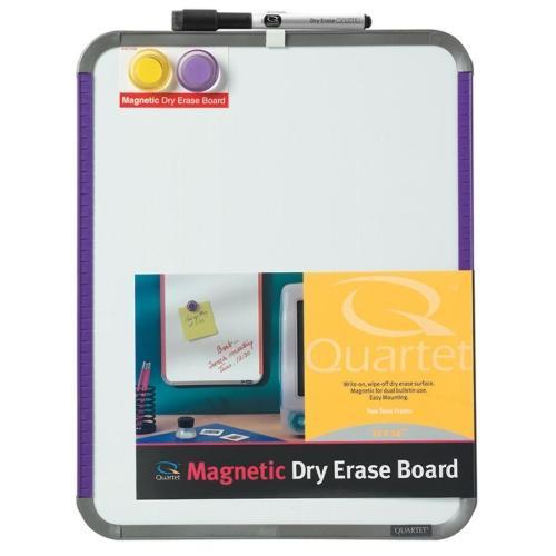 Quartet Magnetic Dry-Erase Board, w/ Plastic Frame, 8-1/2\