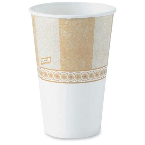 Dixie Paper Water Cup, Flat Bottom, Waxed, 3 oz , 100/PK