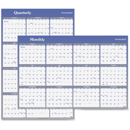 At A Glance Erasable Reversible Yearly Wall Planner