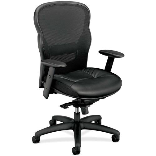 basyx by hon vl701 leather mesh back chair bsxvl701st11 shoplet com