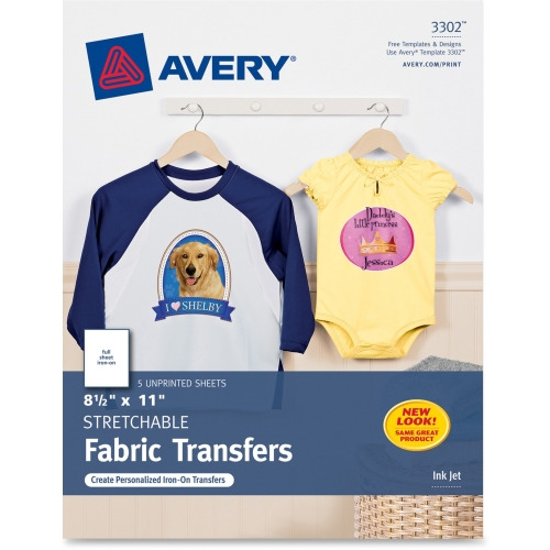 photo relating to Printable Iron on Transfer referred to as Avery Iron-upon Go Paper, Letter - 8.50\
