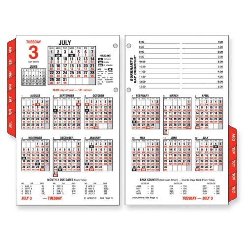 At-A-Glance Burkhart's Day Counter E712-50-10 Calendar Refill ...
