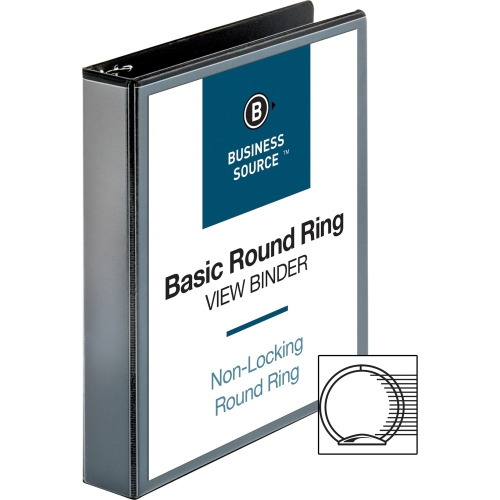 business source round ring view binder bsn09954 shoplet com