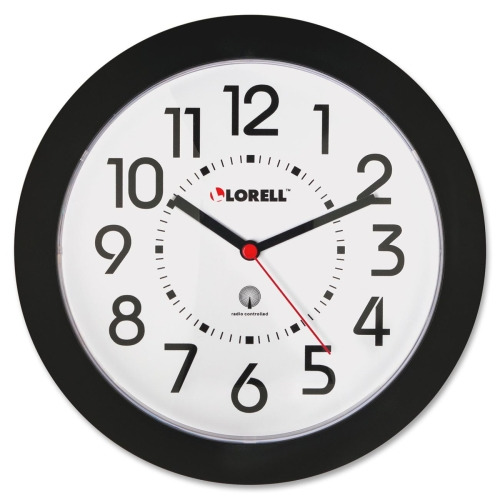 Lorell 9 Quot Radio Controlled Profile Wall Clock Analog