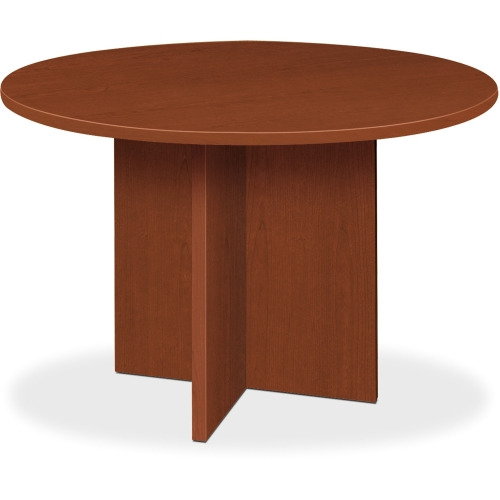 Basyx By HON BL Round Conference Tables With XBase BSXBLCDAA - Round conference table for 10