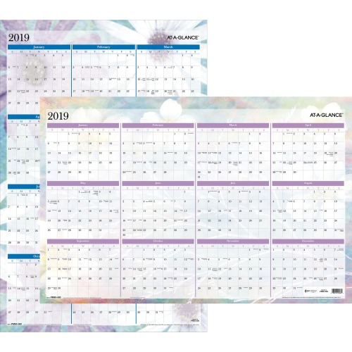 At-A-Glance Dreams Erasable Wall Planner, Julian - Monthly - January 2019  till December 2019 - 24