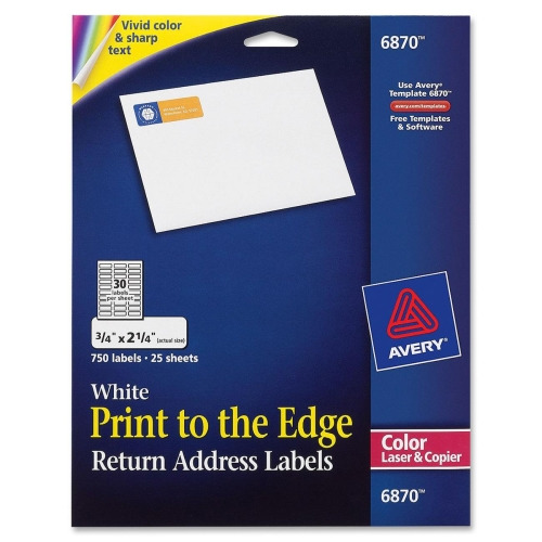Avery Color Printing Label