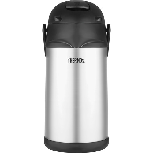 Thermos Coffee Pump Pot Glass Vacuum Insulated 2.7 Quarts Hot//Cold Swivel Base